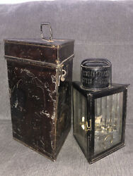 Rare Early Antique Triangular Paraffin / Petrol Lantern In Tin - Snell And Brown