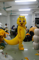 Christmas Lovely Yellow Dragon Mascot Costume Cosplay Party Clothing Adults New