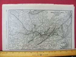 Chesapeake And Ohio Railway Original 1921 System Map Cando Rr Route In Oh Wv Va Md