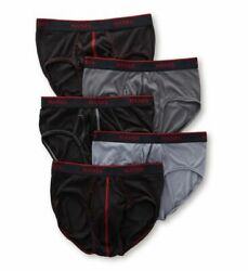New Hanes Sport Comfort Cool Tagless Briefs Breathable Mesh Fresh Iq 5 Pack