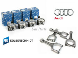 4 X Upgraded Ks Pistons And Genuine Connecting Rods Andphi23mm For Audi A4 Q5 Vw 2.0t
