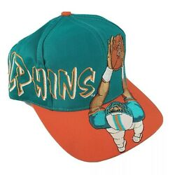 Vintage Miami Dolphins Hat Snapback Embroidered Player Twill Team Drew Pearson