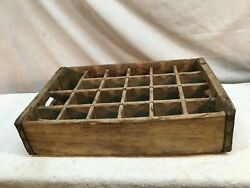 Vintage Coca Cola Coke Wood Crate Carrier Case 24 Slot Yellow Red Lettering 1964