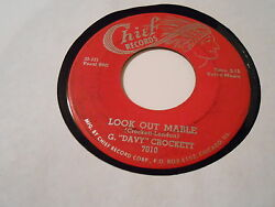 Originalg. Davey Crockett- Look Out Mable - , 45plays Vg To Vg+ [see Details]