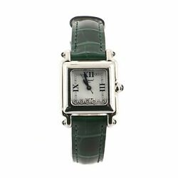 Chopard Happy Sport Square Quartz Watch Stainless Steel With Diamonds And