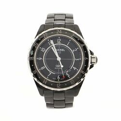 J12 Gmt Automatic Watch Ceramic And Stainless Steel 42