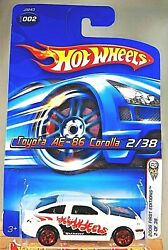 2006 Hot Wheels 2 First Editions 2/38 Toyota Ae-86 Corolla White W/red 5 Spokes