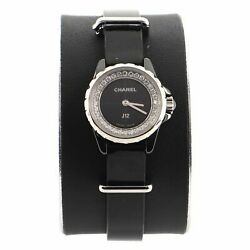 J12 Xs Quartz Watch Ceramic And Stainless Steel With Diamond Flange And