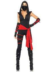 Leg Avenue Womenand039s Deadly Ninja Costume Black/red Small Black/red Size 0q6f