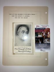 Henry A Wallace signed Jsa Post Card Fdr Vice President  1945 Rare