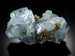 Natural Aquamarine Crystals Bunch Mineral Specimen With Mica - 325 G , 9952 Mm
