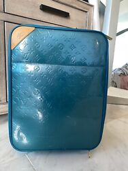 Louis Vuitton Rare Vintage Blue 45 Rolling Luggage Carry-on