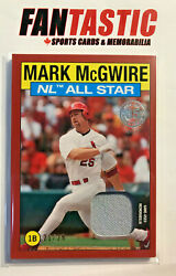 2021 Topps Series 2 1986 All-star Relic Red Parallel /25 86asr-mm Mark Mcgwire