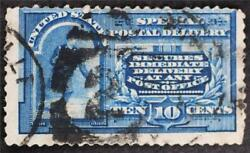 U.s. Scott E4 Special Delivery Blue 1894 10 Cent Stamp Used Cv110 Sto