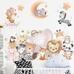 Wall Sticker Cartoon Animals Party Removable Decals Art Murals Home Decoration