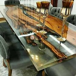 Epoxy Resin Table - Walnut Resin River Table - Epoxy Resin River Table Top Deco