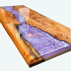 Acacia Wood Made To Order Olive Epoxy Table Custom Epoxy Resin Dining Table Deco
