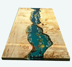 Resin Table Top, Epoxy Coffee Table Top, Epoxy Table Acacia Wood Table Top Deco