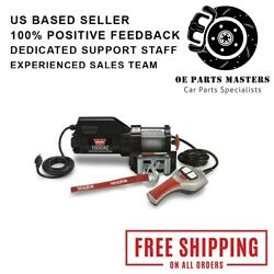 Warn 85330 1,500 Lbs Portable Utility Winch W/ 43' Wire Rope And Roller Fairlead