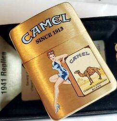 Zippo Lighter Camel Pinup Girl 1941 Brass Cz Limited Edition Only 50 Made