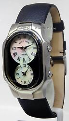 Philip Stein Teslar Stainless Steel Mother Of Pearl Dials Large Watch