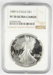 Pf70 Ucam 1989-s American Silver Eagle - Graded Ngc 3001