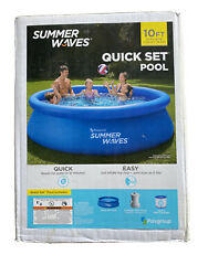 Newsummer Waves 10 Ft X 30 In Quick Set Inflatable Pool With Filter Pump