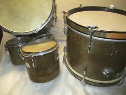 50and039s Sonor Drum Kit With 3 Concert Toms