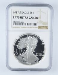Pf70 Ucam 1987-s American Silver Eagle - Graded Ngc 2468
