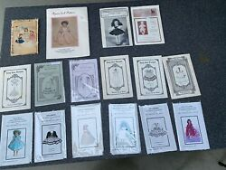 Vtg Lot 16 Doll Clothes Sewing Patterns Easy Sew Designs