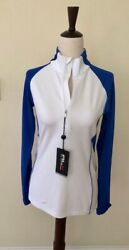 Womens Rlx 1/4 Zip Wicking Mock Pull Over, Royal Blue, Size Xs,nwt