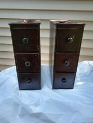Antique 1920's Singer Sewing Machine Model 66 / Cabinet Drawers/cases