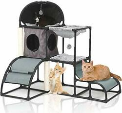 Cat Tree for Large Cats Super Stable Cat Furniture with Scratching Posts grey