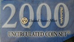 2000 Uncirculated Mint Set From Philadelphia