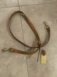 """Vintage Dooney amp; Bourke Brown Leather Replacement Shoulder Strap 38"""" w Hang Tag $30.00"""