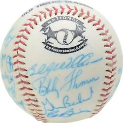 1987 Nl Team Signed Old Timers Cracker Jack Baseball With Mult Sigs - Bas A66577