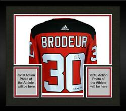 Frmd Martin Brodeur New Jersey Devils Signed Red Auth Jersey And Hof 2018 Insc