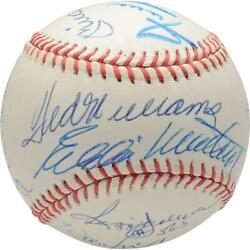500 Home Run Club Autographed Vintage Baseball With 11 Signatures