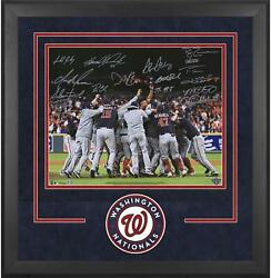 Nationals Dlx Frmd Signed 16x20 2019 Ws Champs Photo And At Least 12 Sigs - Le 219