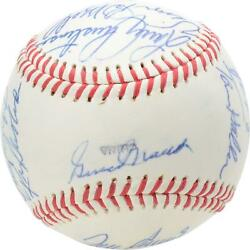 1990 Nl Team Signed Old Timers Cracker Jack Baseball With Mult Sigs - Bas A61762