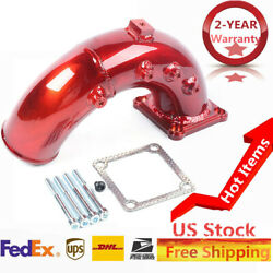 Air Intake Elbow Tube Horn Charge For 98.5-02 Dodge Ram 5.9l Cummins Diesel Red