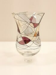 Partylite Mosaic Peglite P0429 Candle Holder Cranberry Gold Multi-color New