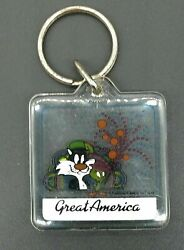 Warner Brothers 1986 Great America Keychain Sylvester The Cat Tweety Bird