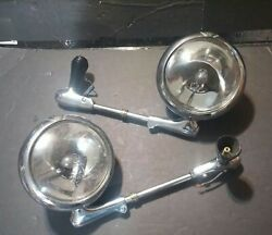 Pair 2 Vintage Unity S-6 Police Spotlight 1950s 1960and039s 1970s S6 Rat Hot Parts