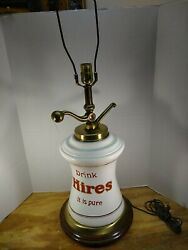 Vintage Drink Hires It Is Pure Syrup Dispenser Lamp, Hires Root Beer, Unique