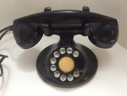1930s Telephone Bell System Western Electric F1 Rotary Desk Phone Original