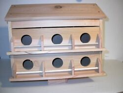 Wood 12 Room Deluxe Purple Martin Bird House Cedarfully Assembled Free Shippin
