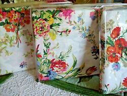 Belle Harbor Floral Queen X-deep Fitted Sheet Set T350 Luxury New