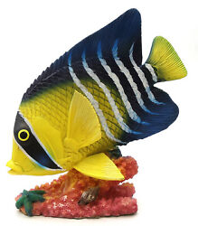 Novelties And Gifts 1255530-y/b Resin Decorative Tropical Fish - Yellow / Blue