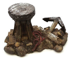 Novelties And Gifts 1256068b Old Relics Of The Sea - Resin Antique Capstans And Anch